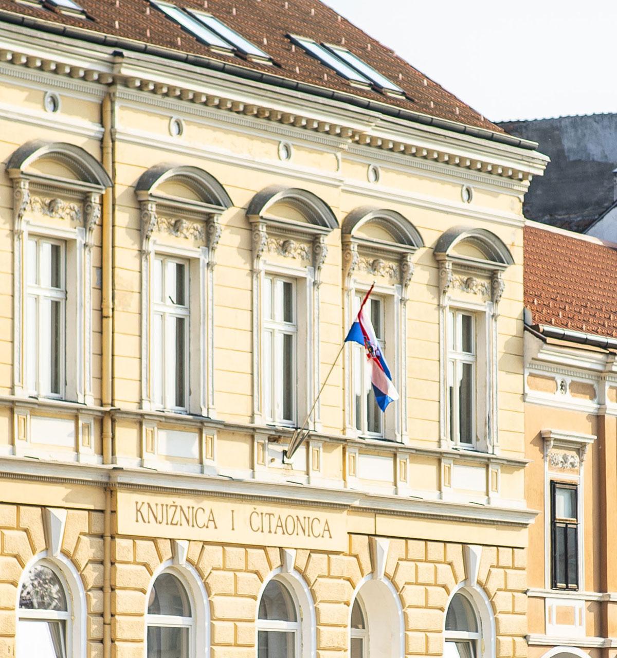 Knjižnica Fran Galović - pročelje zgrade