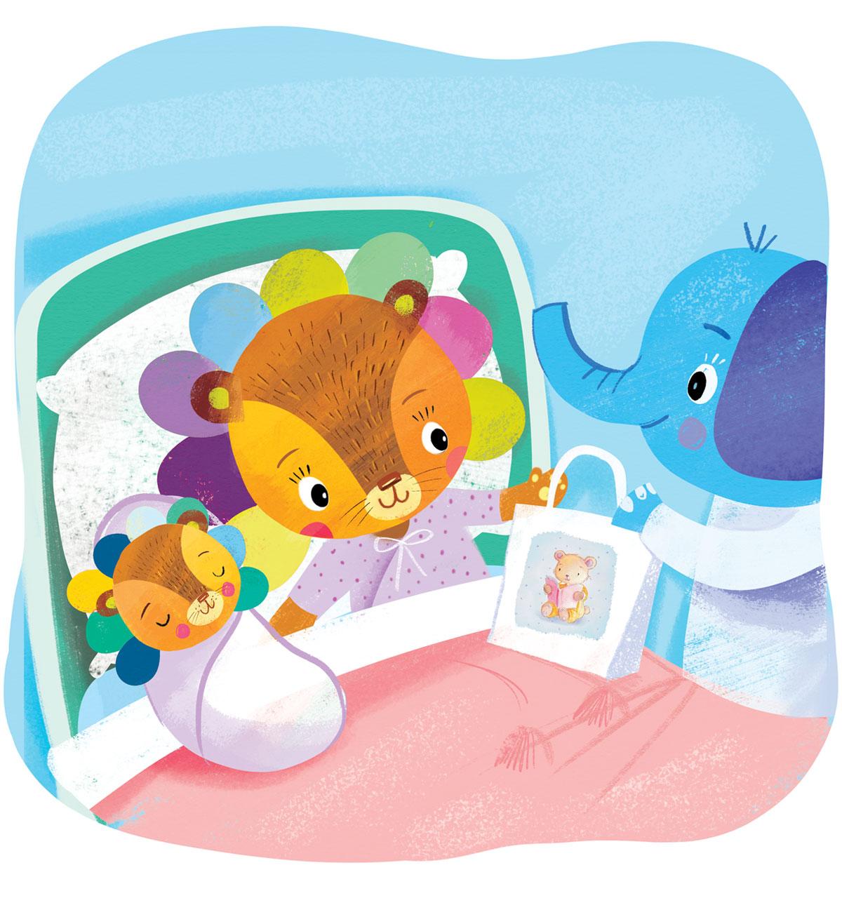 Knjige za bebe, ilustracija u rodilištu